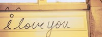 Close-up of I love you written on a wall Fine Art Print