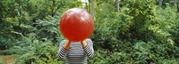 Woman Blowing a Balloon Germany
