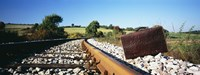 """Close-up of a suitcase on a railroad track, Germany by Panoramic Images - 27"""" x 9"""""""
