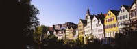"""Row Of Houses In A City, Tuebingen, Baden-Wurttemberg, Germany by Panoramic Images - 27"""" x 9"""" - $28.99"""