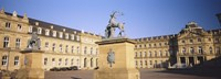 """Low Angle View Of Statues In Front Of A Palace, New Palace, Schlossplatz, Stuttgart, Baden-Wurttemberg, Germany by Panoramic Images - 27"""" x 9"""""""