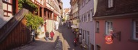 """Houses On Both Sides Of An Alley, Lake Constance, Meersburg, Baden-Wurttemberg, Germany by Panoramic Images - 27"""" x 9"""", FulcrumGallery.com brand"""