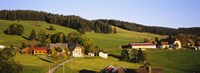 """High Angle View Of A Village, Black Forest, Baden-Wurttemberg, Germany by Panoramic Images - 27"""" x 9"""""""