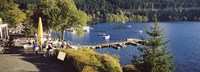 """High Angle View Of A Restaurant Near A Lake, Black Forest, Titisee-Neustadt, Baden-Wurttemberg, Germany by Panoramic Images - 27"""" x 9"""""""