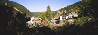 """High Angle View Of A Town, Triberg Im Schwarzwald, Black Forest, Baden-Wurttemberg, Germany by Panoramic Images - 27"""" x 9"""""""