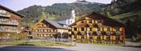 """Church In A Village, Bregenzerwald, Vorarlberg, Austria by Panoramic Images - 27"""" x 9"""""""