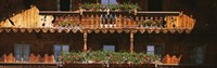 """Close-up of potted plants on balcony railings, Tirol, Austria by Panoramic Images - 27"""" x 9"""" - $28.99"""