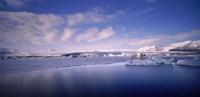 "Glacier floating on water, Jokulsarlon Glacial Lagoon, Vatnajokull, Iceland by Panoramic Images - 27"" x 9"", FulcrumGallery.com brand"