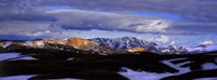 """Clouds over snowcapped mountains, Fjallabak, Central Highlands, Iceland by Panoramic Images - 27"""" x 9"""", FulcrumGallery.com brand"""