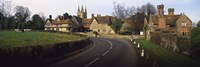 "Houses along a road, Penhurst, Kent, England by Panoramic Images - 27"" x 9"""
