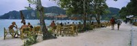 "Restaurant on the beach, Ko Phi Phi Don, Phi Phi Islands, Thailand by Panoramic Images - 27"" x 9"""
