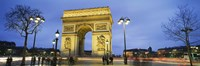 "Tourists walking in front of a monument, Arc de Triomphe, Paris, France by Panoramic Images - 27"" x 9"""