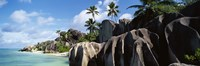 "Rock formations on the beach, Anse Source D'argent Beach, La Digue Island, Seychelles by Panoramic Images - 27"" x 9"""