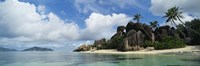 "Rock Formations on Anse Source D'argent Beach, La Digue Island, Seychelles by Panoramic Images - 27"" x 9"""