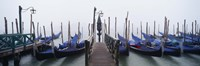 "Gondolas on the Water, Grand Canal, Venice, Italy by Panoramic Images - 27"" x 9"""