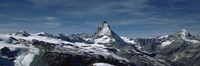 "Snow on mountains, Matterhorn, Valais, Switzerland by Panoramic Images - 27"" x 9"""