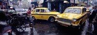 """Traffic in a street, Calcutta, West Bengal, India by Panoramic Images - 27"""" x 9"""" - $28.99"""