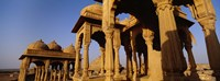 "Low angle view of monuments at a place of burial, Jaisalmer, Rajasthan, India by Panoramic Images - 27"" x 9"", FulcrumGallery.com brand"