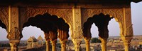 """Monuments at a place of burial, Jaisalmer, Rajasthan, India by Panoramic Images - 27"""" x 9"""""""