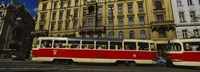 """Electric train on a street, Prague, Czech Republic by Panoramic Images - 27"""" x 9"""""""