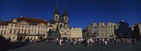 """Group of people at a town square, Prague Old Town Square, Old Town, Prague, Czech Republic by Panoramic Images - 27"""" x 9"""", FulcrumGallery.com brand"""