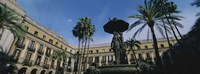 """Fountain in front of a palace, Placa Reial, Barcelona, Catalonia, Spain by Panoramic Images - 27"""" x 9"""", FulcrumGallery.com brand"""