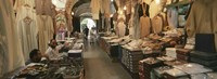 Clothing stores in a market, Souk Al-Liffa, Tripoli, Libya Fine Art Print