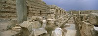 Ruins of ancient Roman city, Leptis Magna, Libya Fine Art Print