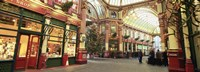 """Interiors of a market, Leadenhall Market, London, England by Panoramic Images - 27"""" x 9"""""""