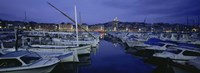Boats docked at a port, Old Port, Marseille, Bouches-Du-Rhone, Provence-Alpes-Cote Daze, France Fine Art Print