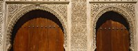 """Low angle view of carving on arches of a palace, Court Of Lions, Alhambra, Granada, Andalusia, Spain by Panoramic Images - 27"""" x 9"""""""