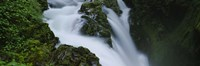 """High angle view of a waterfall, Sol Duc Falls, Olympic National Park, Washington State, USA by Panoramic Images - 27"""" x 9"""""""