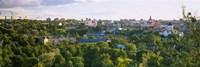 High angle view of a city, Vilnius, Trakai, Lithuania Fine Art Print