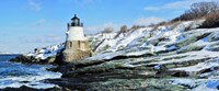"""Lighthouse along the sea, Castle Hill Lighthouse, Narraganset Bay, Newport, Rhode Island (horizontal) by Panoramic Images - 27"""" x 9"""""""