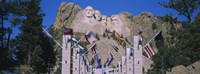 "Statues on a mountain, Mt Rushmore, Mt Rushmore National Memorial, South Dakota, USA by Panoramic Images - 27"" x 9"""
