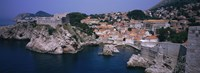 Town at the waterfront, Lovrijenac Fortress, Bokar Fortress, Dubrovnik, Croatia Fine Art Print