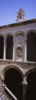"""Low angle view of a bell tower, Rector's Palace, Dubrovnik, Croatia by Panoramic Images - 9"""" x 27"""""""