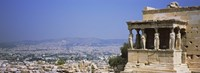 """City viewed from a temple, Erechtheion, Acropolis, Athens, Greece by Panoramic Images - 27"""" x 9"""""""