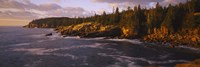 """Rock formations at the coast, Monument Cove, Mount Desert Island, Acadia National Park, Maine by Panoramic Images - 27"""" x 9"""""""