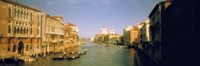 "Sun lit buildings along the Grand Canal, Venice, Italy by Panoramic Images - 27"" x 9"""