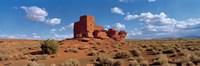 Ruins of a building in a desert, Wukoki Ruins, Wupatki National Monument, Arizona, USA Fine Art Print