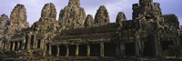 "Facade of an old temple, Angkor Wat, Siem Reap, Cambodia by Panoramic Images - 27"" x 9"""