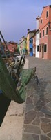 "Houses along a road, Burano, Venetian Lagoon, Italy by Panoramic Images - 9"" x 27"""