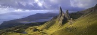 Rock formations on hill, Old Man of Storr, Isle of Skye, Scotland Fine Art Print