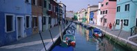 "Canal, Burano, Italy by Panoramic Images - 27"" x 9"""