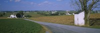 "Road through Amish Farms, Pennsylvania by Panoramic Images - 27"" x 9"", FulcrumGallery.com brand"
