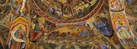 "Fresco on the ceiling of the Rila Monastery, Bulgaria by Panoramic Images - 27"" x 9"""