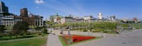 """Buildings in a city, Place Jacques Cartier, Montreal, Quebec, Canada by Panoramic Images - 27"""" x 9"""""""