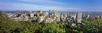 """High angle view of a cityscape, Parc Mont Royal, Montreal, Quebec, Canada by Panoramic Images - 27"""" x 9"""""""