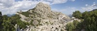 """Old ruins of an amphitheater, Termessos, Taurus Mountains, Antalya Province, Turkey by Panoramic Images - 27"""" x 9"""""""